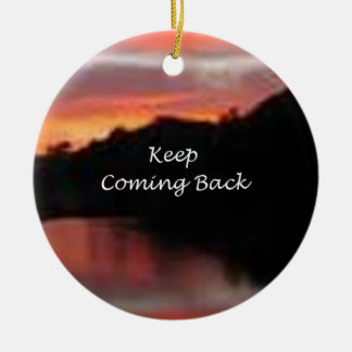 Keep Coming Back Double-Sided Ceramic Round Christmas Ornament