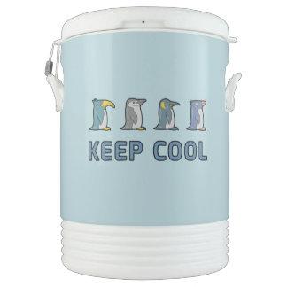 Keep Cool Penguins Ten Gallon Coller Cooler