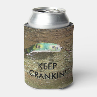 Keep Crankin' Old Fishing Lure Can Cooler
