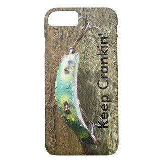 Keep Crankin' Old Fishing Lure iPhone 8/7 Case