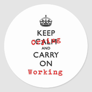 KEEP CRYING CLASSIC ROUND STICKER