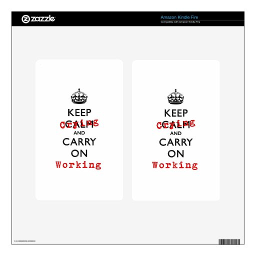 KEEP CRYING DECALS FOR KINDLE FIRE