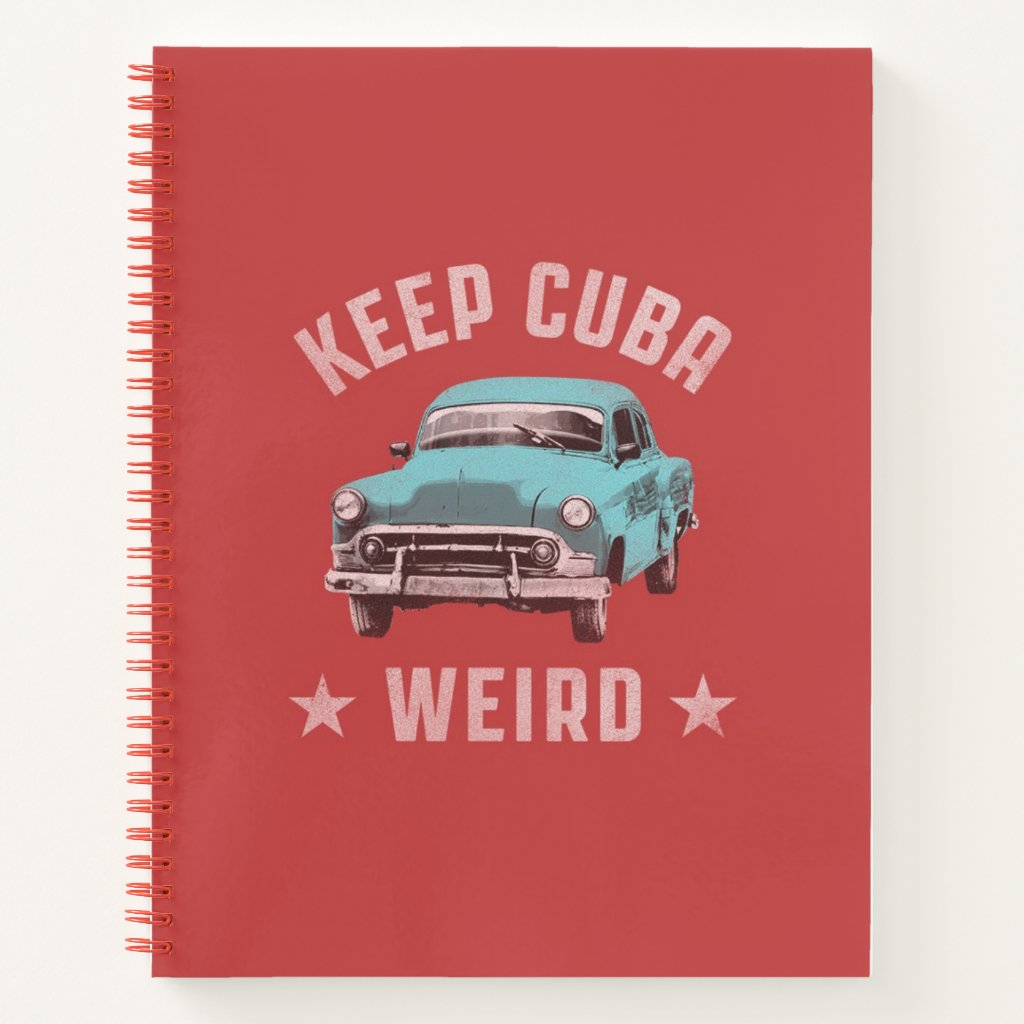 keep cuba weird notebook