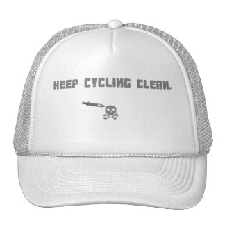 KEEP CYCLING CLEAN TRUCKER HAT, WHITE