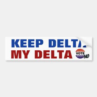 Keep Delta My Delta Bumper Stickers