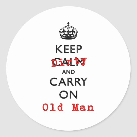 KEEP DIRTY CLASSIC ROUND STICKER