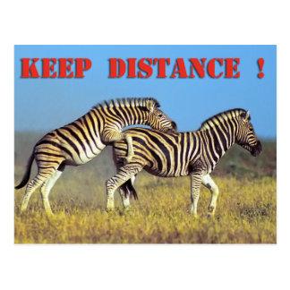 Keep distance postcard