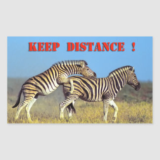 Keep distance rectangular sticker