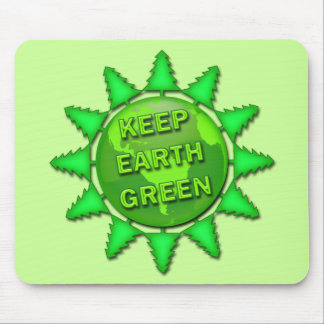 KEEP EARTH GREEN MOUSE PAD