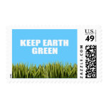 KEEP EARTH GREEN POSTAGE STAMPS