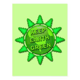 KEEP EARTH GREEN POSTCARD