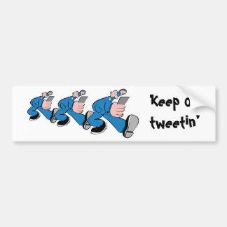 Keep él tweetin' pegatina para auto