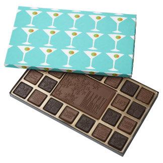 Keep 'Em Coming Martini Box of Chocolates 45 Piece Assorted Chocolate Box