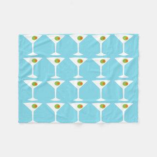 Keep 'Em Coming Martini Fleece Blanket (turquoise)