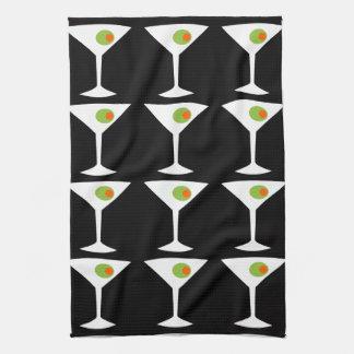 Keep 'Em Coming Martini Kitchen Towel (black)