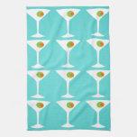 Keep 'Em Coming Martini Kitchen Towel (turquoise)