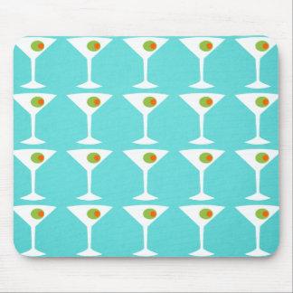 Keep 'Em Coming Martini Mousepad (turquoise)