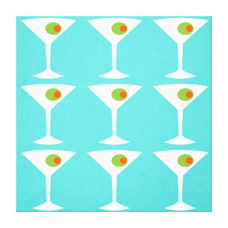 Keep 'Em Coming Martini Stretched Canvas