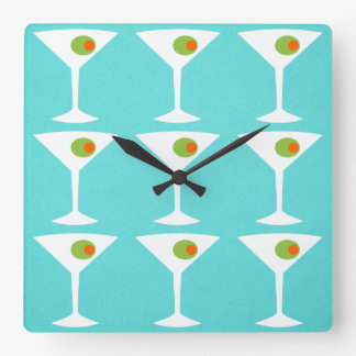 Keep 'Em Coming Martini Wall Clock