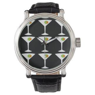 Keep 'Em Coming Martini Watch (black)