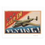 Keep 'Em Flying/B-25 Medium Bomber (Airplane) Post Card