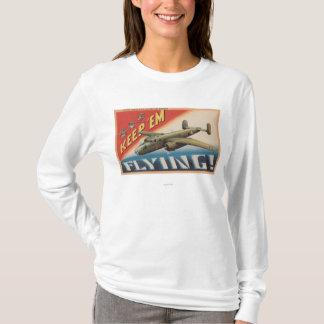 Keep 'Em Flying/B-25 Medium Bomber (Airplane) T-Shirt