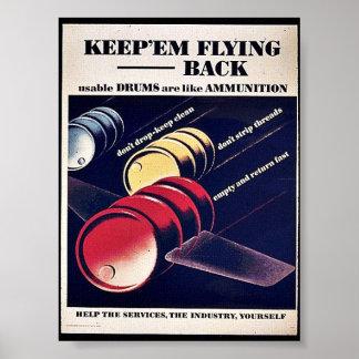 Keep 'Em Flying Back Posters