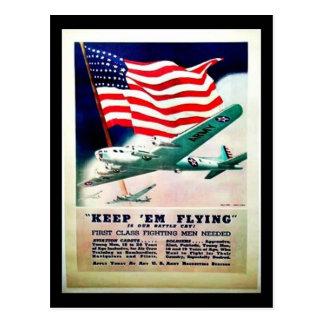 Keep Em Flying Postcard