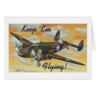 Keep 'Em Flying! World War II Twin Engine Bomber Card