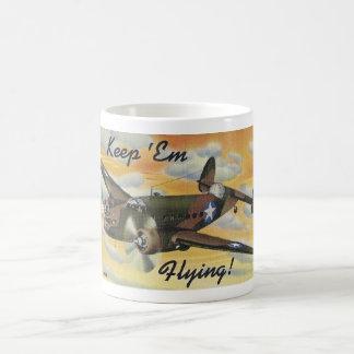 Keep 'Em Flying! World War II Twin Engine Bomber Coffee Mug