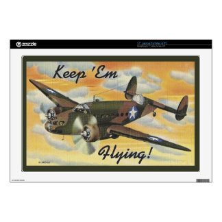 Keep 'Em Flying! World War II Twin Engine Bomber Laptop Decal