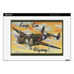 Keep 'Em Flying! World War II Twin Engine Bomber Laptop Decals