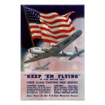 Keep 'em Flying -- WWII Air Corps Poster