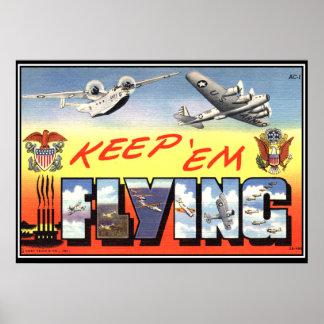 Keep 'em Flying WWII Poster