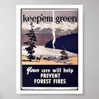 Keep 'Em Green Print