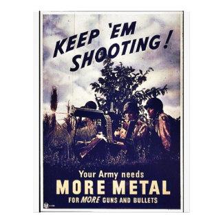 Keep 'Em Shooting Flyer