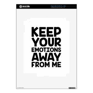 Keep Emotions Away iPad 2 Decal