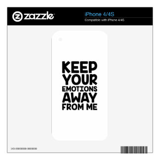 Keep Emotions Away iPhone 4S Decal