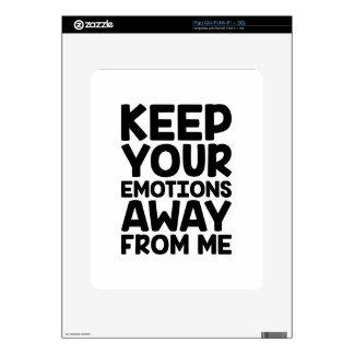Keep Emotions Away Skins For iPad