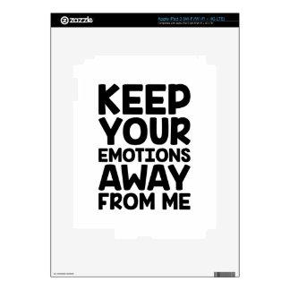 Keep Emotions Away Skins For iPad 3