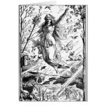 Keep Eostre in Easter Greeting Card