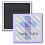 Keep Faith 2 Inch Square Magnet