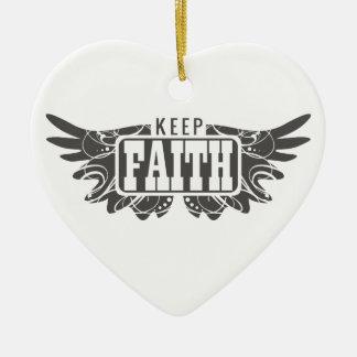 Keep Faith Christmas Ornament