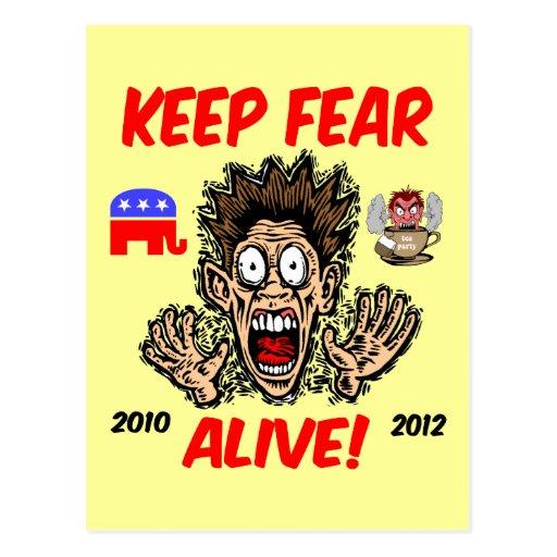 Keep fear alive post card