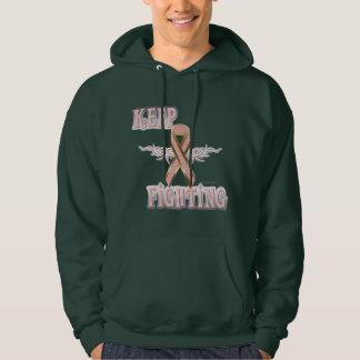 Keep Fighting Breast Cancer Men's Hoodie