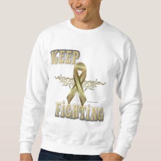 Keep Fighting Child Cancer Men's Sweatshirt