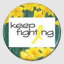 Keep Fighting Classic Round Sticker