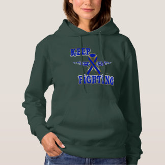 Keep Fighting Colon Cancer Ladies Hoodie