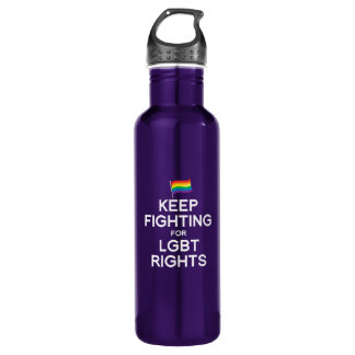 KEEP FIGHTING FOR LGBT RIGHTS 24OZ WATER BOTTLE