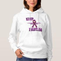 Keep Fighting Pancreatic Cancer Ladies Hoodie